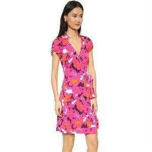DVF Jilda Two Silk Wrap Dress 8